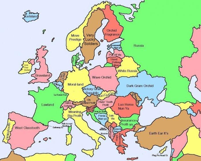 Kinesisk Europakart Hva Kinesere Kaller Europeiske Land Kinesisk
