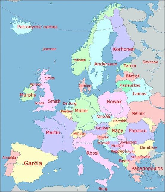 Europakart Uten Navn Familie Hjorne