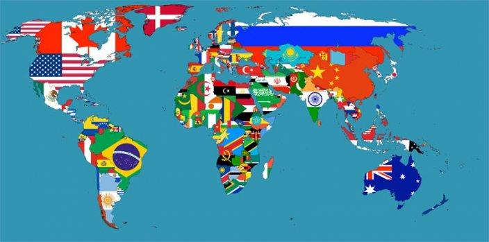 kart verden land Flagg: Alle lands flagg i verden i ett kart!   Nettmagasinet kart verden land