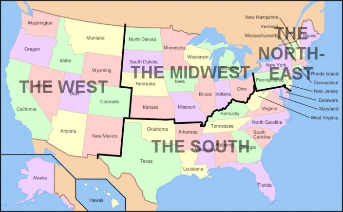 usa kart over statene Kart Over Usas Stater | Kart